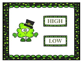 High or Low St. Patrick's Day Shamrocks