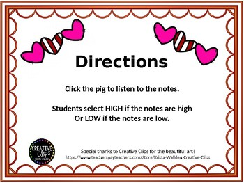 High or Low? Valentine's Day Pigs