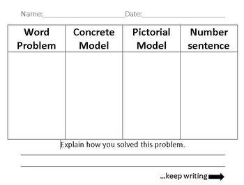 High Rigor Word Problem Graphic Organizer