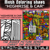 Math Colouring Worksheet (Addition) -High Rise