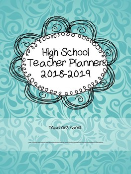 High school Teacher Planner for life