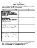 High school student update request form- form teacher to s