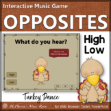 Thanksgiving Music Game: High and Low {Interactive} Turkey Dance