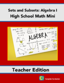 Higher Altitudes in Algebra I - Teacher's Edition