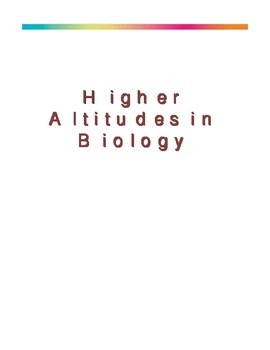 Higher Altitudes in Biology