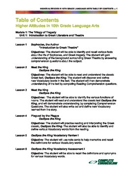 Higher Altitudes in Tenth Grade Language Arts - Teacher's Edition