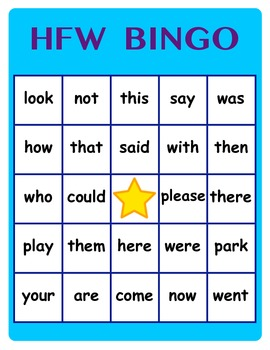 Higher Level HFW (High Frequency Word) BINGO