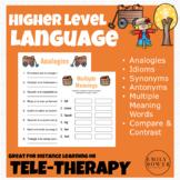 Higher Language Skills - Fall Themed Speech Language Thera
