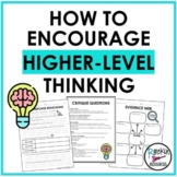 Higher-Level Thinking Lesson Plans and Printables for Any Book