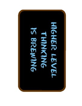 Higher Level Thinking Poster