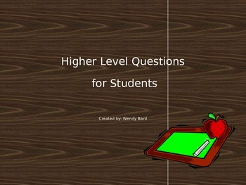 Higher Level Thinking Questions