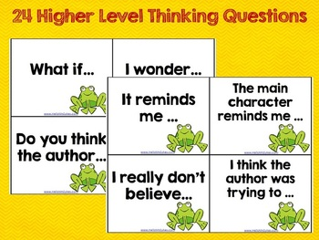 Higher Level Thinking Question Stems for Reading Comprehension