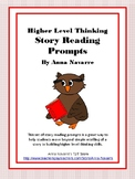 Higher Level Thinking Reading Prompt Cards