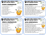 Higher Level Thinking Student Desk Reminder Questions