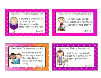 Higher Level Thinking Task Cards