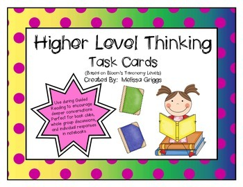 Higher Level Thinking Task Cards