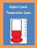Higher Lower Temperature Game