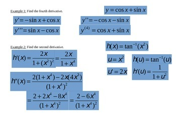 Higher Order Derivatives