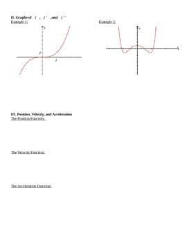 Higher Order Derivatives Notes