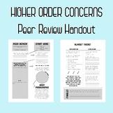Higher Order Concerns Peer Review Handout