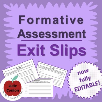 Higher Order Thinking Across the Curriculum: Formative Assessment Exit Slips
