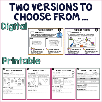 Higher Order Thinking: Addition & Subtraction -Grade 2nd -Paperless & Printables