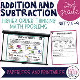 Higher Order Thinking: Addition & Subtraction 2nd Grade