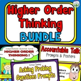 Higher Order Thinking Questions, Accountable Talk, Probing Questions BUNDLE