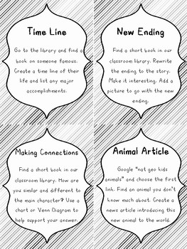 Higher Order Thinking Cards