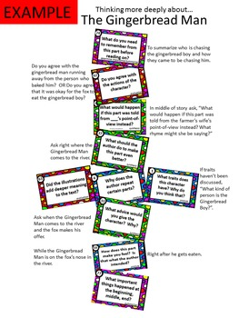 80 Higher Order Thinking Questions Cards for ANY Book H.O.T.S