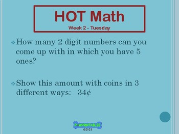 Higher Order Thinking Daily Math Warm-up 3rd Grade