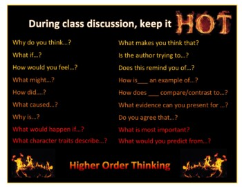 Higher Order Thinking Discussion Poster
