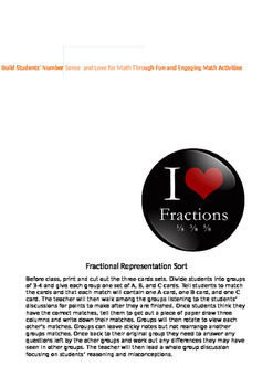 Higher Order Thinking Fractional Sort
