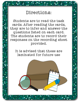 Higher Order Thinking Inferencing Task Cards