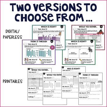 Higher Order Thinking: Place Value (2nd grade) ~Paperless and Printables