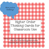 Higher Order Thinking Question Cards