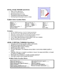 Higher Order Thinking Question Sheet