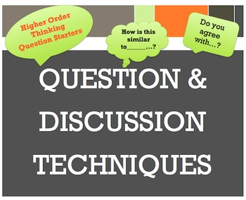 Higher Order Thinking Question Starters