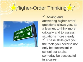 Higher-Order Thinking & Questioning PowerPoint