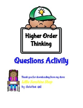Higher Order Thinking Questions Activity