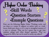 Higher Order Thinking Questions Cards