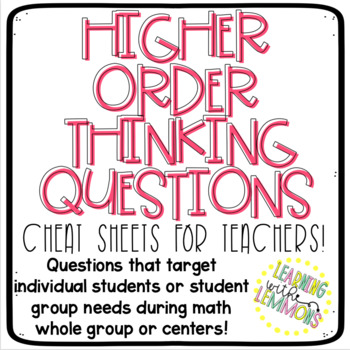 Higher Order Thinking Questions For Teachers!