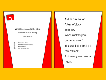 Higher Order Thinking Questions with Nursery Rhymes