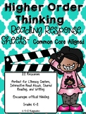 Higher Order Thinking Reading Response Sheets