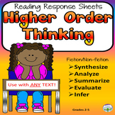 Higher Order Thinking Reading Comprehension Graphic Organi