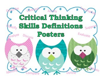 Critical Thinking Skills Definition Posters