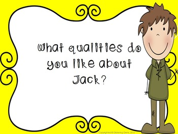 Higher Order Thinking Skills Task Cards {Jack and the Beanstalk}