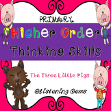 Higher Order Thinking Skills Task Cards | The Three Little Pigs Activities