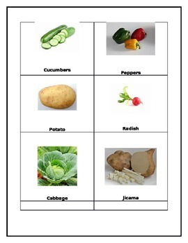 Higher Order Thinking Sorting Vegetables