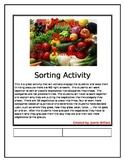 Higher Order Thinking Sorting Vegetables